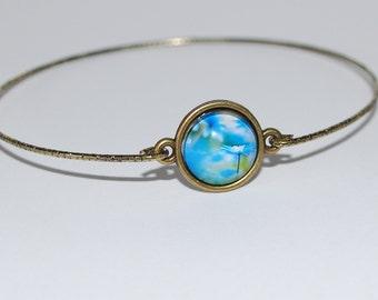 Bracelet blue daisies