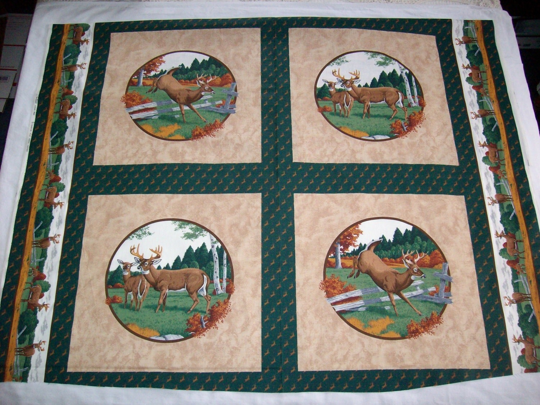 VIP Cranston Print Works Deer 6 Panel Pillowquilt By