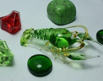 Lobster glass Miniature, animals glass, art glass,blown glass, Lobster