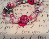 Eloise at Christmastime Recycled Book Bracelet