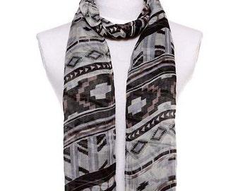 Womens Scarf, Stripe Print Scarf, Black Scarf, Floral Scarf, Fashion Scarf, Chiffon Scarf, Voile Scarf, Cotton Scarf
