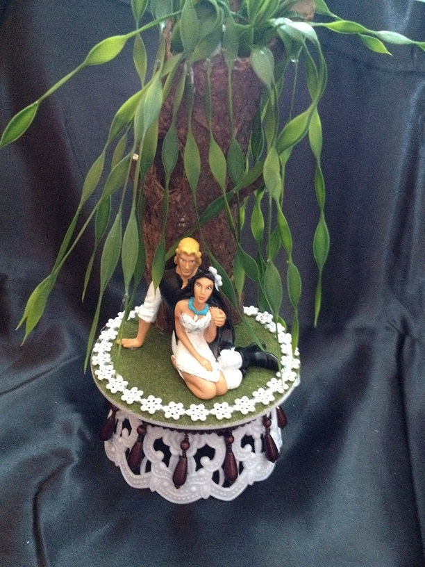 Pocahontas And John Smith Cake Topper