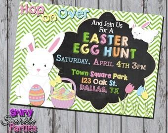 Printable EASTER EGG Hunt INVITATION - Easter Invitation - Egg Hunt Invitation - Easter Bunny Invitation - Easter Egg Hunt Invite