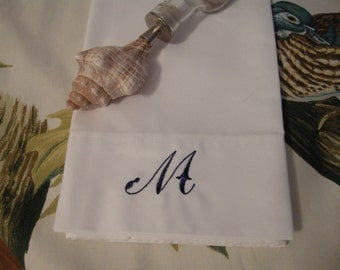 Monogram Embroidered Pillow Case