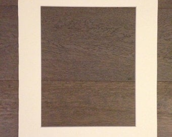 Packs of 5, 11x14 Pre-cut Acid-free whitecore mat, fits 8x10 artwork - Off white color