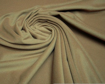 Fabric wool cashmere Fawn Brown warm Lambswool not scratchy soft