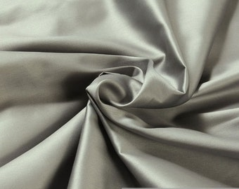Fabric pure cotton satin silvergrey excess wide 300 cm wide mercerized