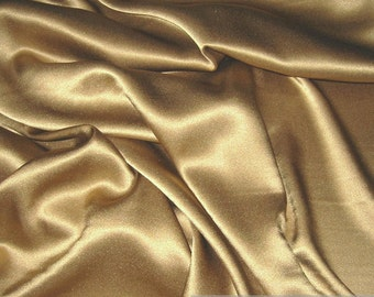 Fabric silk elastane satin bronze flowing stretch noble