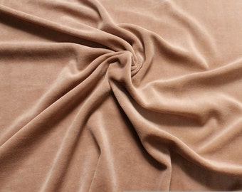 Fabric cotton polyester nicky beige soft nature