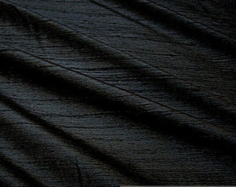 Fabric natural Shantung silk black