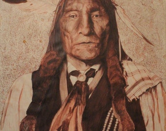 indian chief and wolf - photo #22