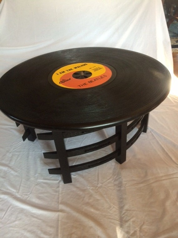 Items Similar To Beatles Record Coffee Table On Etsy