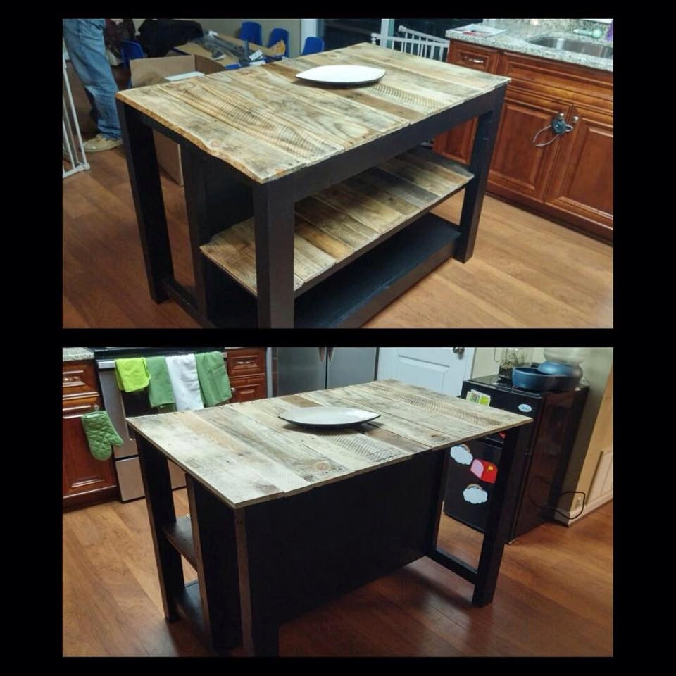 Custom Reclaimed Wood Kitchen Island Breakfast By