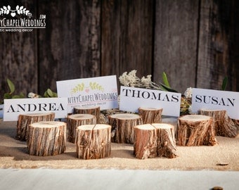50 Wood Place Card Holders, Wood Table Number Holders ~Summer Wedding