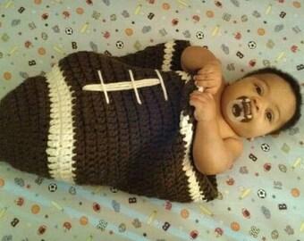 Cozy Football Baby Cocoon