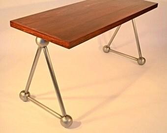 Custom Wood and Steel Desk