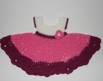 Georgeus Newborn Crocheted Dress, MADE TO ORDER, colour choice