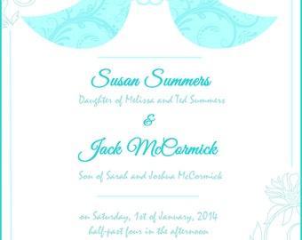 Little Birdie Blue Wedding Digital Invitation