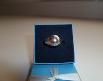 Dome .925 Vintage Sterling ring with scrolling
