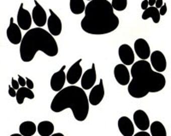 Dog Paw Bear Paw Temporary Fake Tattoo Bold Body Art Transfer Waterpoof Fancy Dress