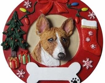 Basenji Gift - Basenji Ornament Personalized with your Dog's Name