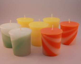 Two tone scented votive candle - 15 hour burn time.