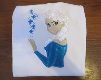 Frozen Elsa Embroidered T-Shirt