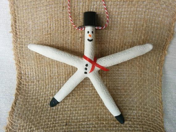 Snowman Starfish Ornament