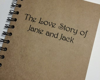 The Love Story, Journal, Notebook, Love Story, Writers, gift, Personalized, boyfriend, girlfriend, couple, Our Love Story