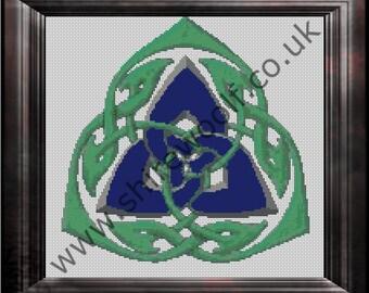 Triquetra Celtic Cross Stitch Pattern PDF