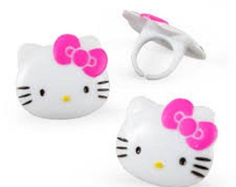 Hello Kitty Plastic Rings