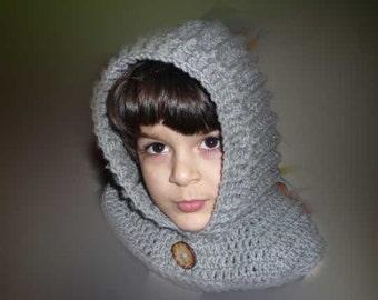 Crocheted hoodie,cowl