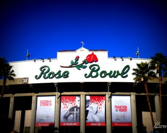 Wall Art Canvas Decor Rose Bowl California Football Sports Stadium