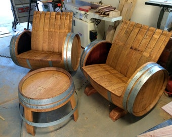 ... Wine Barrel Chairs & 1 Table); FREE shipping in the Phoenix Valley