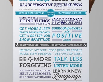 Unique Resolutions and Goals Poster Using Typograhy