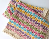 "Crochet baby blanket ""Princess bubblegum"""