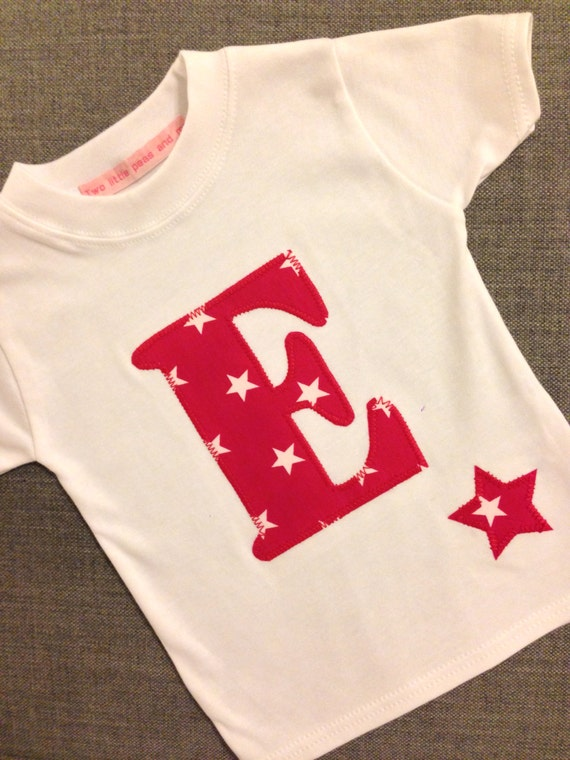 E for everyone, Childrens Personalised Initial Tshirt