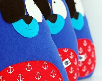 Pirate teddy bear softie soft plush toy sailor anchor nautical kids room nursery gift