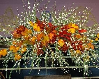 Silk Forsythia  Floral Swag