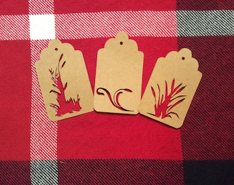 Die Cut Assorted Cattails Tags