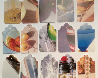 Die Cut Repurposed Drink Book Tags (Set of 25)