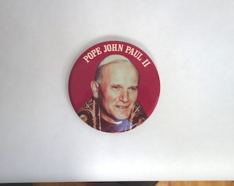 1978 Pope election button, 4 inch diameter