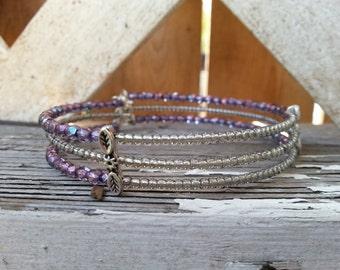 Delicate 3 row bracelet