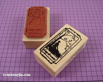 Daydream Ticket Stamp / Invoke Arts Collage Rubber Stamps