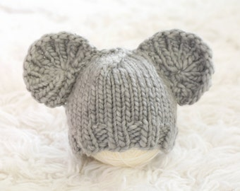 Baby Knit Mouse Hat