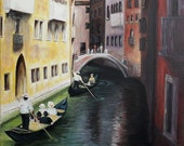 Venice, original acrylic painting, wall art, home decor, printable art,  instant download