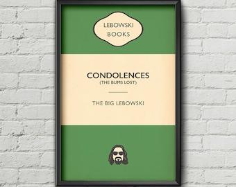 Big Lebowski Poster / Penguin Book Cover / The Big Lebowski / Typography / 11 x 17 / 18 x 24 / 24 x 36