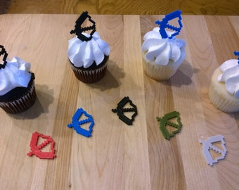 Minecraft Inspired MC Bow CupCake Toppers