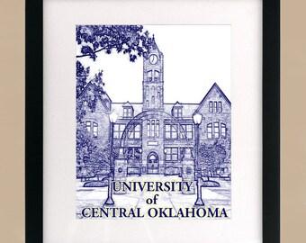 University of Central Oklahoma 3 Art Deco Print