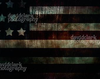 Grunge American Flag Background for digital photography.  High quality homemade digital backgorund